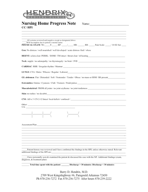 NH Progress Note 2 2015